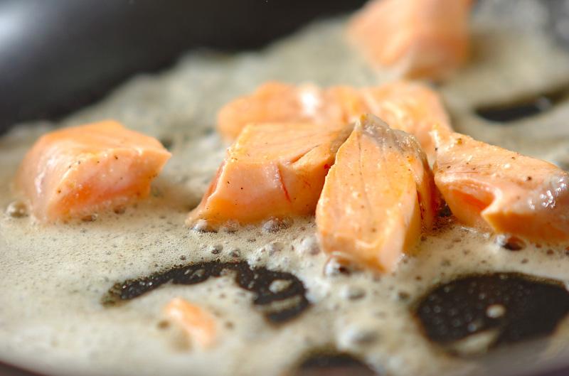 ジャガイモと鮭のサラダの作り方の手順2