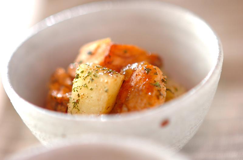 ジャガイモと鮭のサラダの作り方の手順