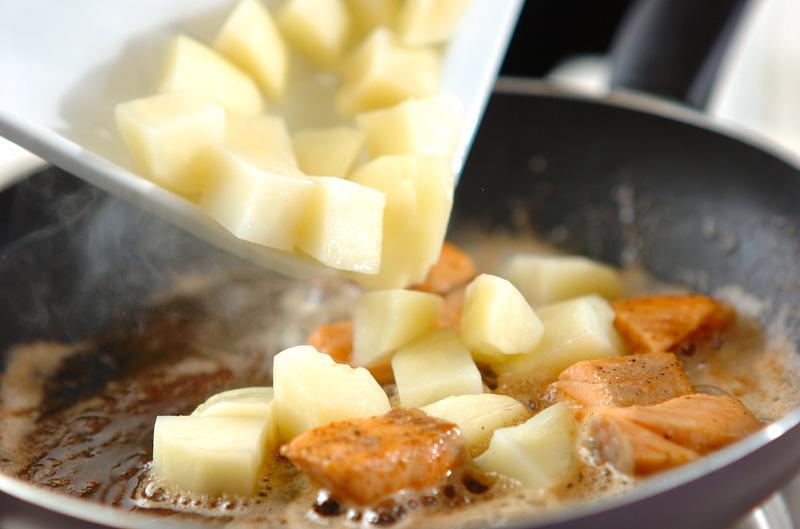 ジャガイモと鮭のサラダの作り方の手順3