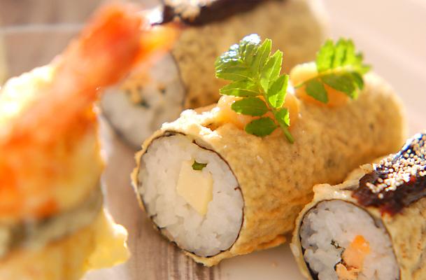 春の寿司天ぷらの作り方の手順