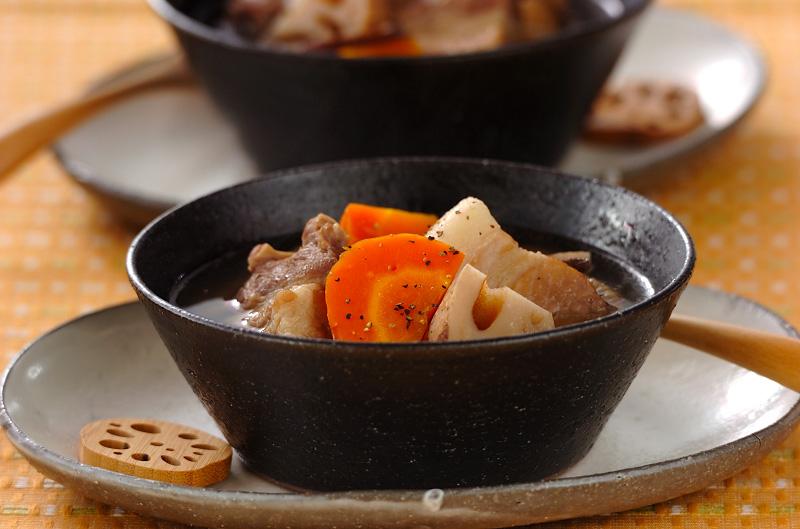 塩豚とレンコンのショウガスープ