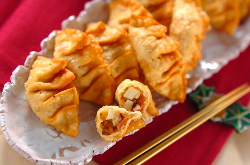 タコ焼き風揚げ餃子の作り方の手順