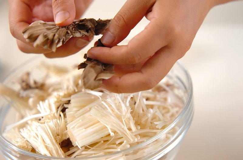 キノコの炊き込みご飯の作り方の手順4