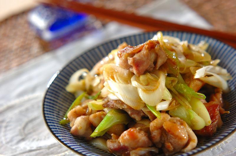 さっぱり柚子胡椒香る!鶏もも肉と白ネギのポン酢炒め