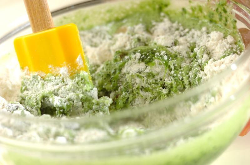 小松菜とレーズンの蒸しケーキの作り方の手順6