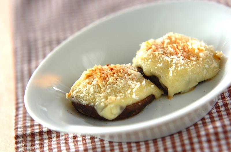シイタケのチーズ焼きの作り方の手順