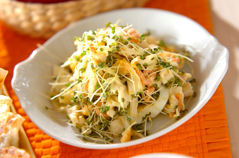 切干し大根と卵のサラダ