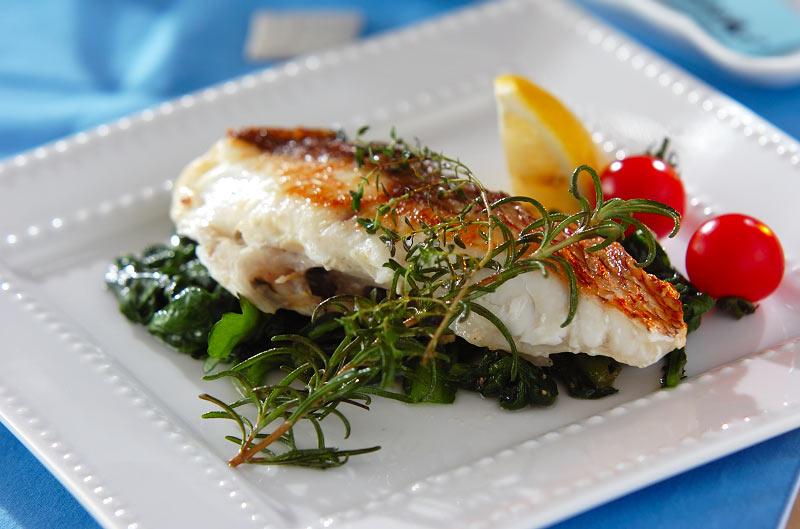 鯛のハーブ焼きの作り方の手順