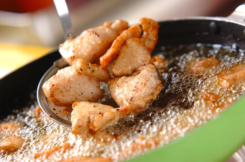 鶏の唐揚げサルサソースの作り方の手順3