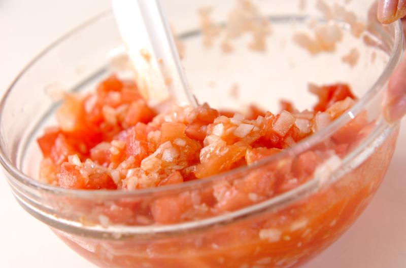 鶏の唐揚げサルサソースの作り方の手順2