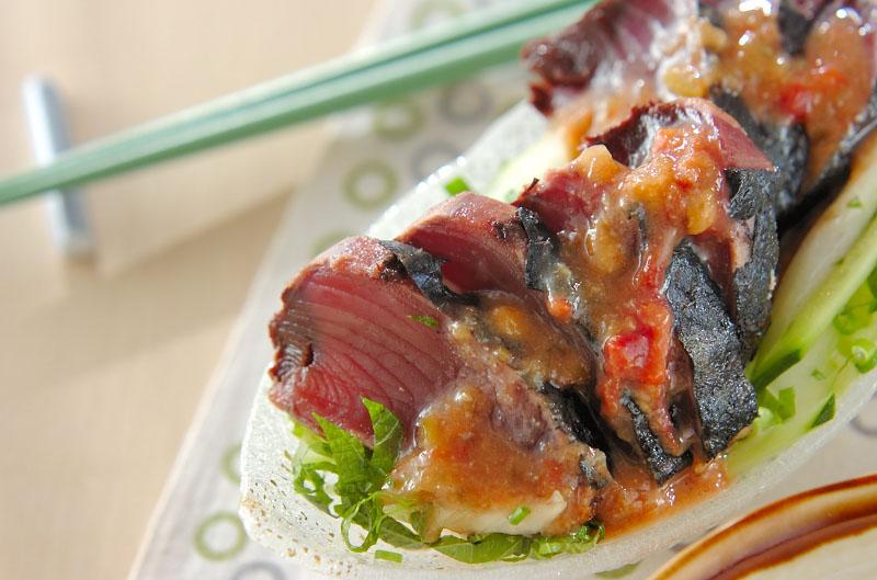 カツオのたたき・梅肉みそダレの作り方の手順