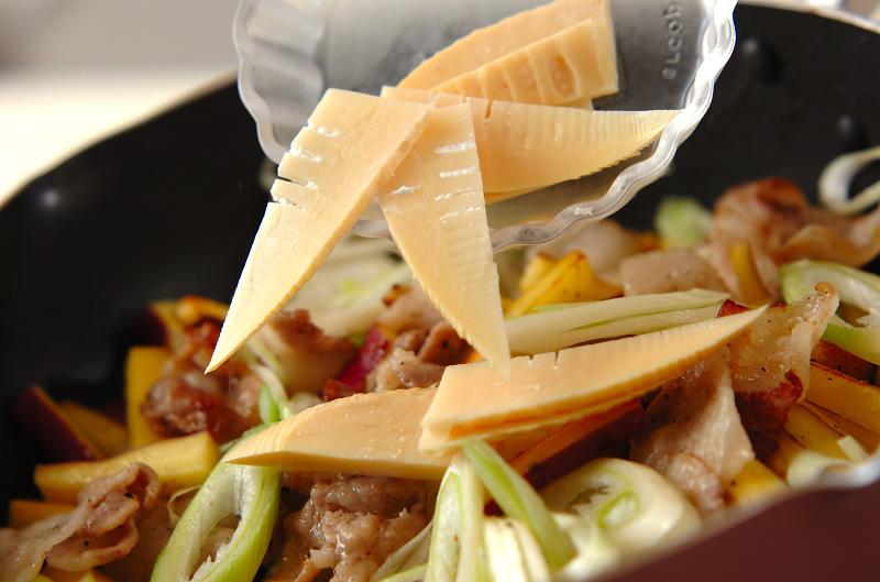 サツマイモと豚肉の中華炒めの作り方の手順2