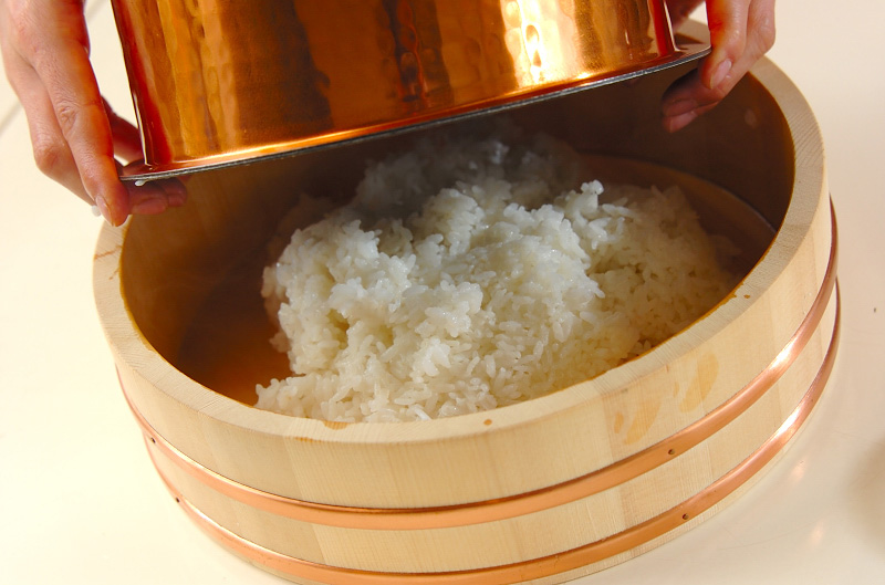 漬けカツオの手ごね寿司の作り方の手順8