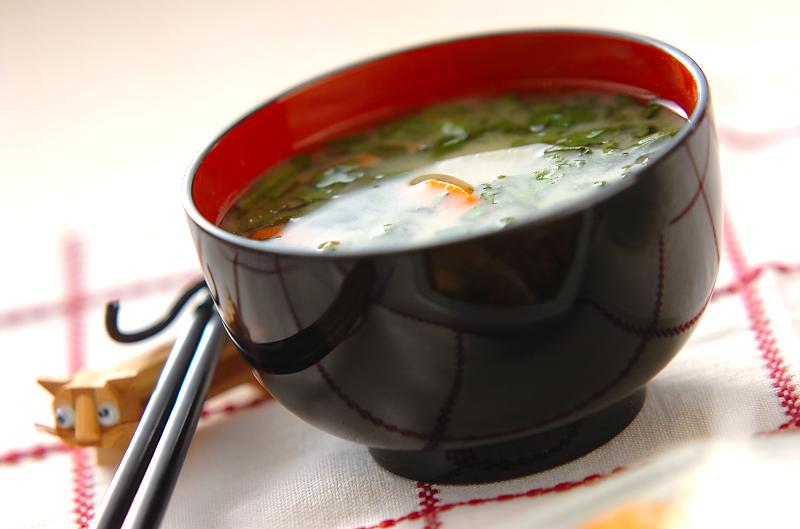 菊菜の白みそ汁