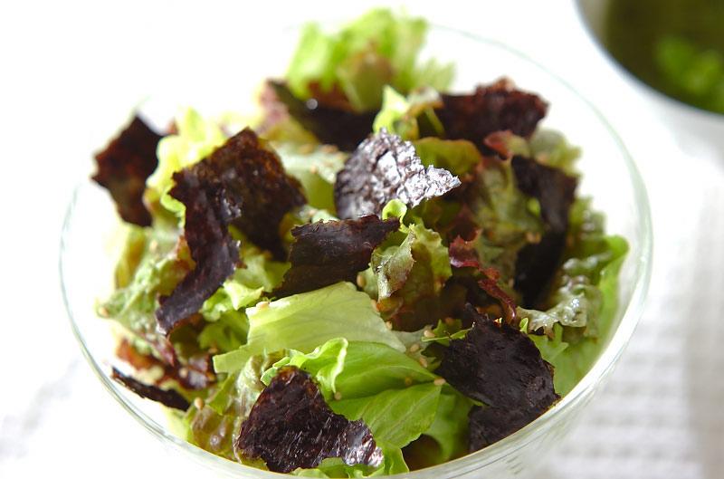 レタスの磯サラダの作り方の手順