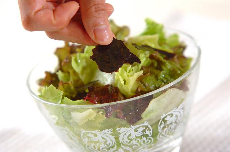 レタスの磯サラダの作り方の手順3