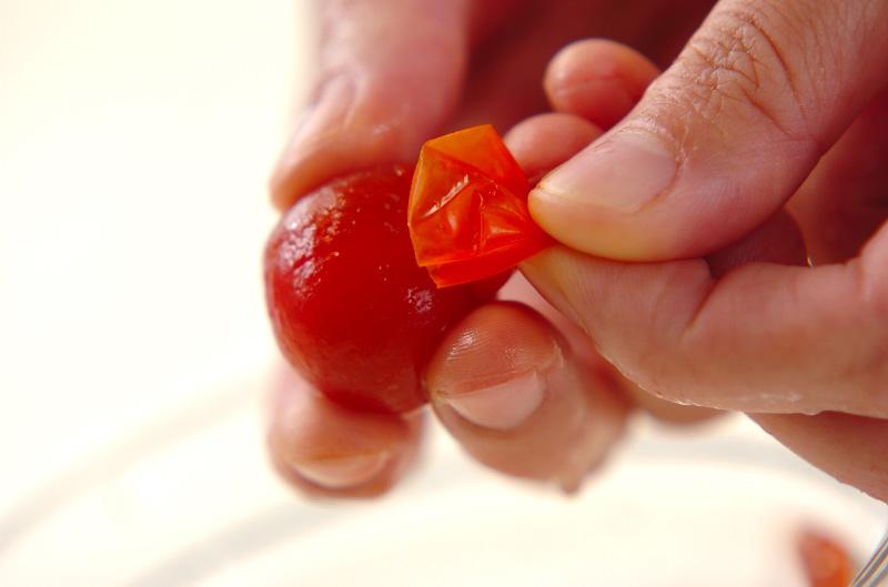 トマトのすりつぶしの作り方1