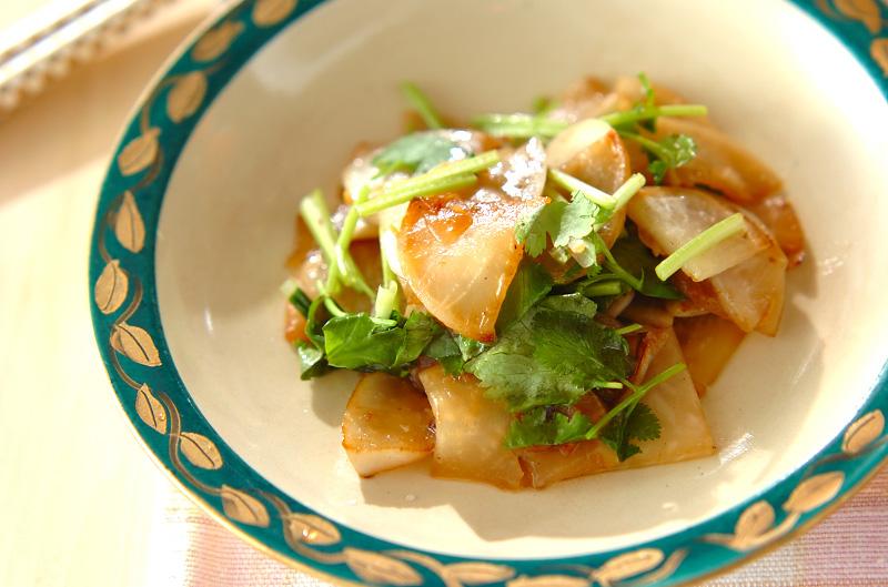 カブの香菜炒めの作り方の手順