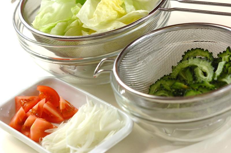 ゴーヤのサラダ・アボカドドレッシングの作り方の手順1