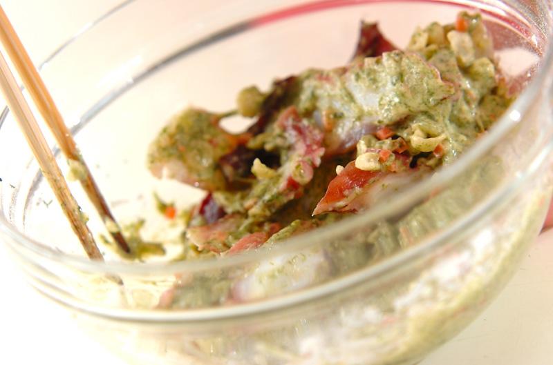 タコのひとくち焼きの作り方の手順3