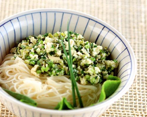 高菜ネギ素麺