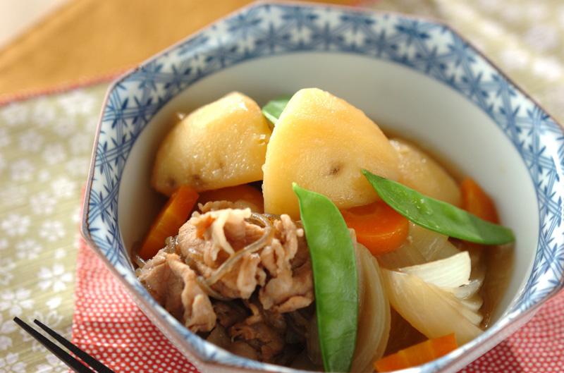 豚肉で肉ジャガの作り方の手順
