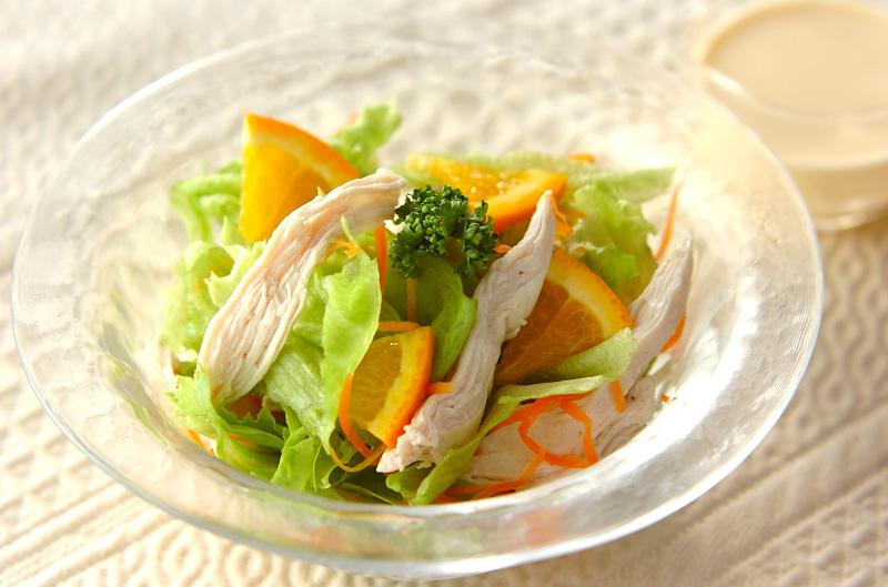 チキンサラダ・オレンジ風味の作り方の手順
