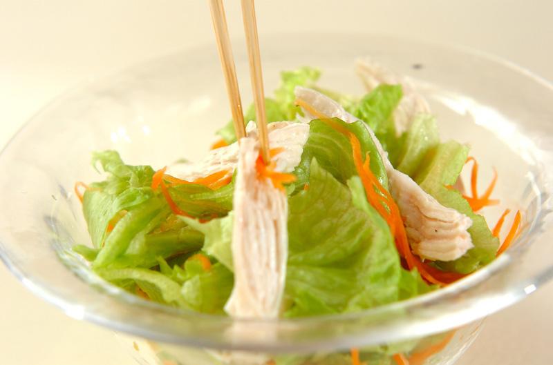 チキンサラダ・オレンジ風味の作り方の手順4