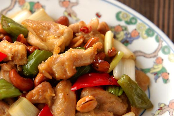 鶏肉とナッツの炒め物の作り方の手順