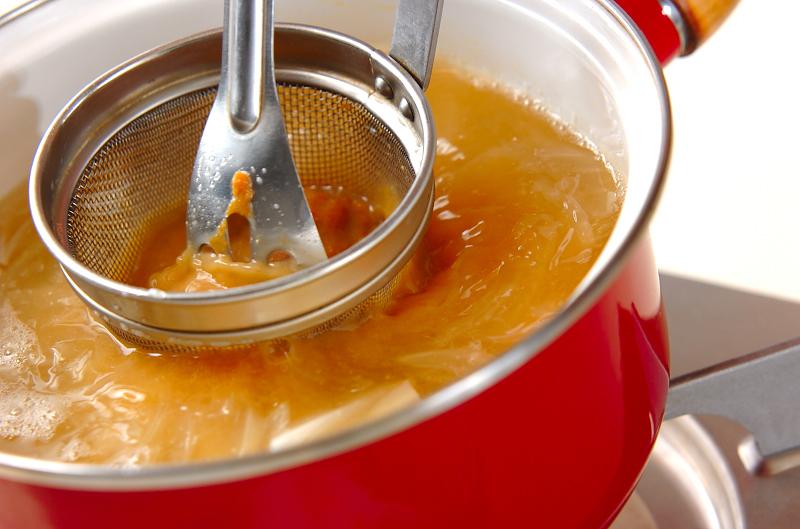 小カブのみそ汁の作り方の手順5