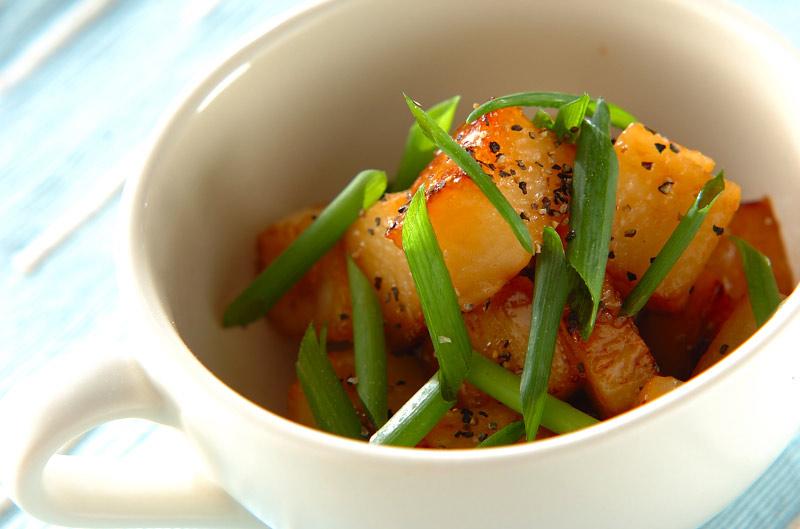 長芋のバターしょうゆ炒めの作り方の手順