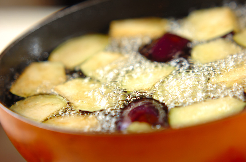 揚げナスのゴマ酢がけの作り方の手順4
