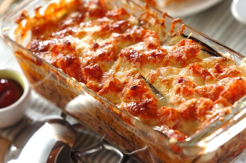 ナスとひき肉の重ね焼き【E・レシピ】料理のプロが作る簡単レシピ/2013.04.08公開のレシピです。