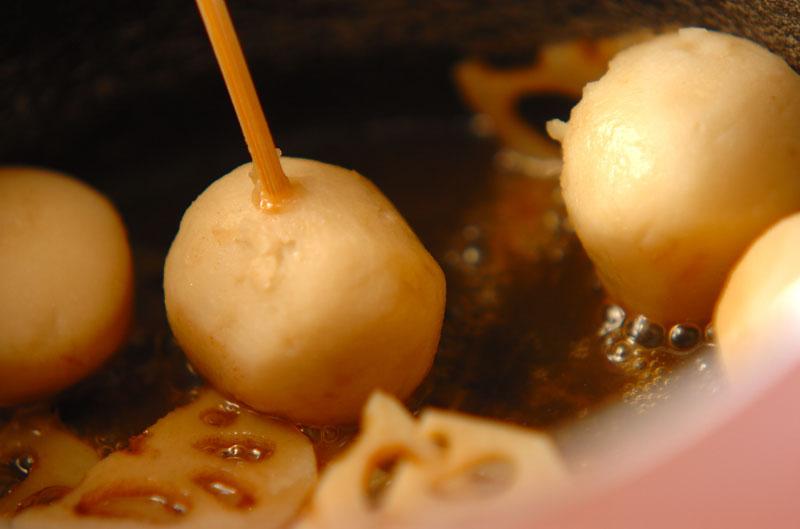 里芋とレンコンの梅肉和えの作り方の手順5