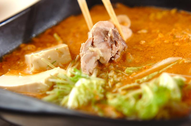 鶏鍋~ゴマ鍋~担々麺風そばの作り方の手順8