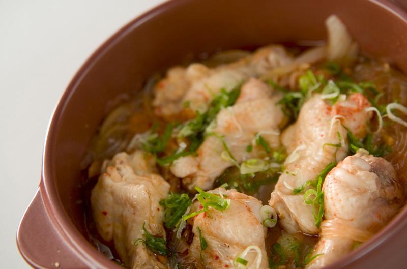 チキンピリ辛・土鍋蒸の作り方の手順