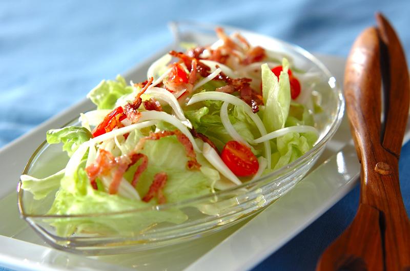 ベーコンレタスサラダの作り方の手順