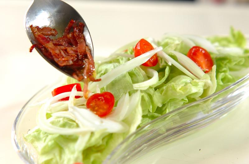 ベーコンレタスサラダの作り方の手順3