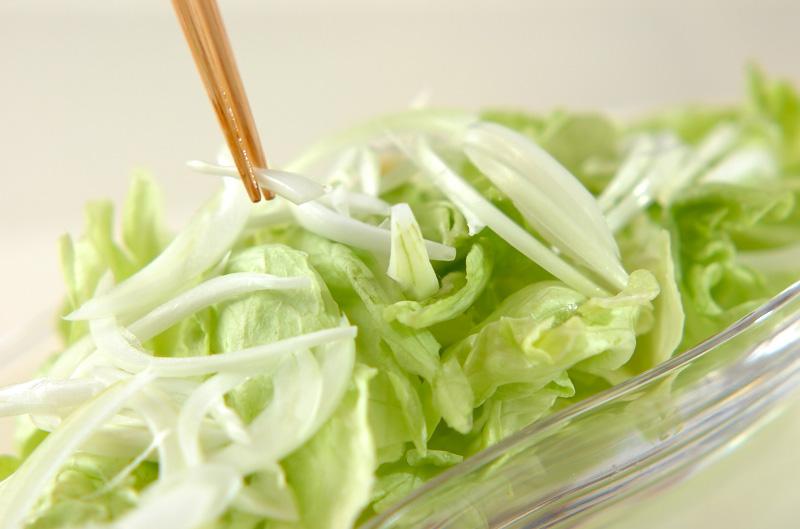 ベーコンレタスサラダの作り方の手順2
