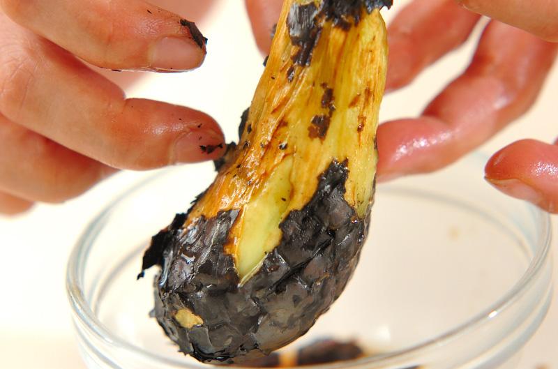 焼きナスのすまし汁の作り方の手順2
