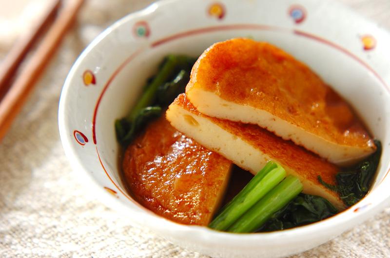 簡単副菜!さつま揚げと小松菜の煮物