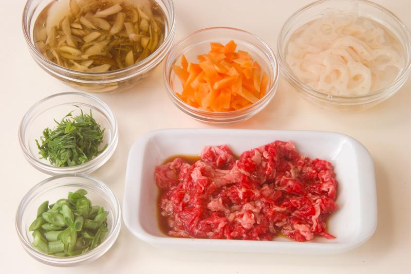 きんぴらご飯の作り方の手順1