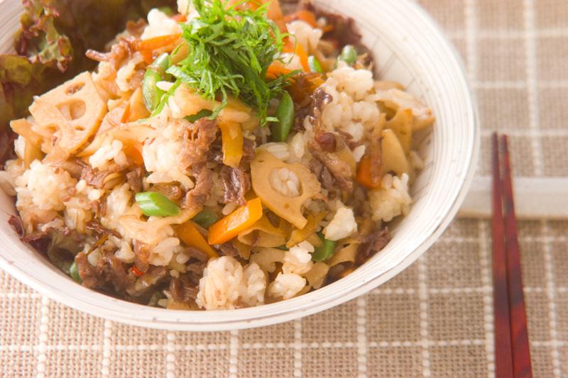 きんぴらご飯の作り方の手順