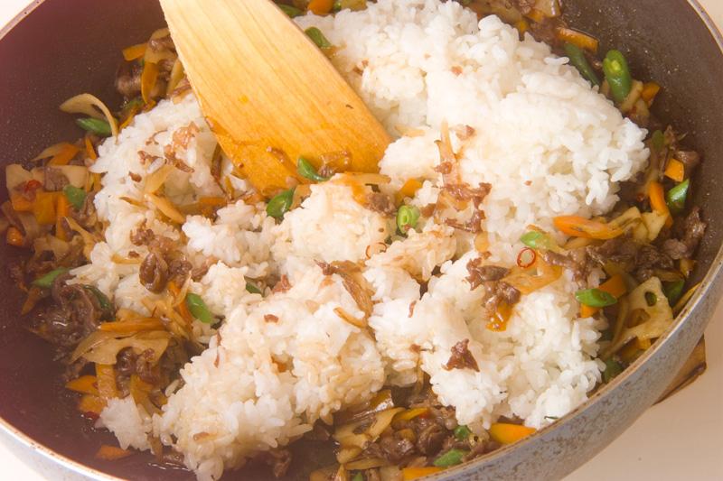 きんぴらご飯の作り方の手順3