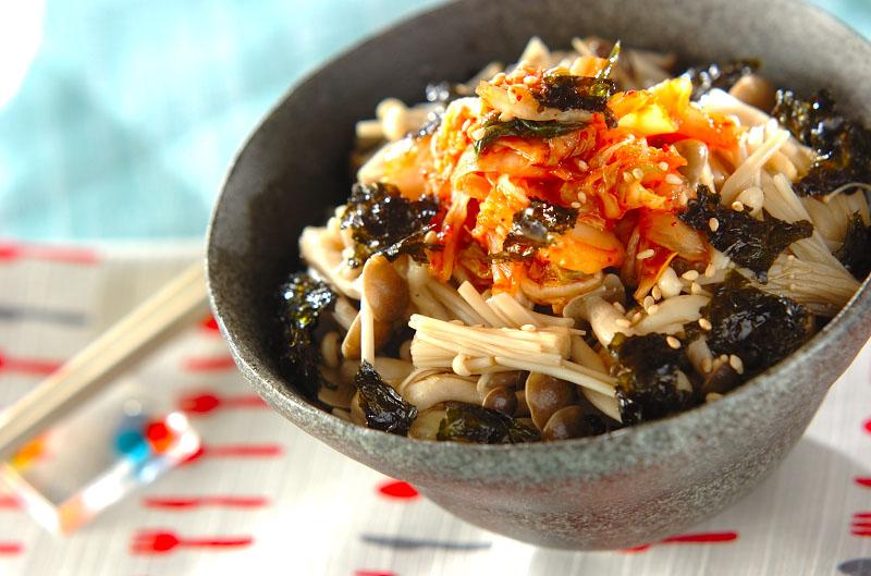 キノコナムルの韓国丼