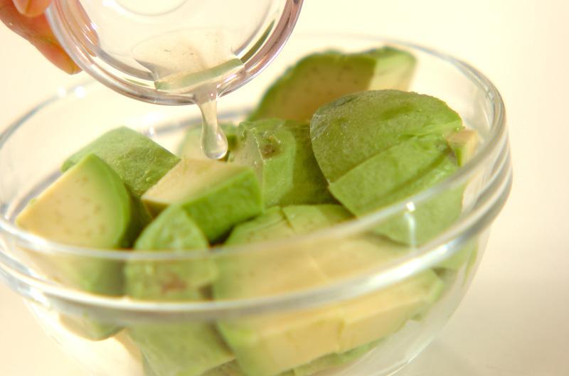 アボカド豆腐サラダの作り方の手順1