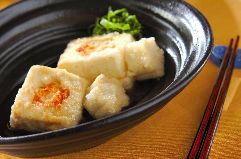 チーズめんたい揚げだし豆腐