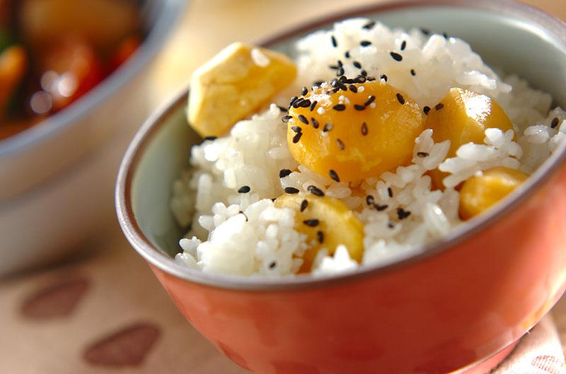 秋の定番!もち米入り栗ご飯