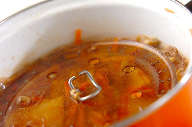 イワシの黒酢煮込みの作り方の手順8
