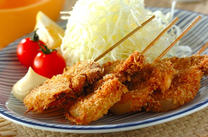 豚ヒレ肉の串カツの作り方の手順